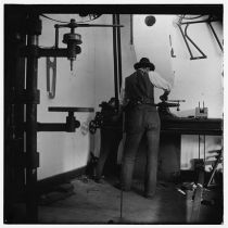 Wilbur Wright At Lathe c. 1897