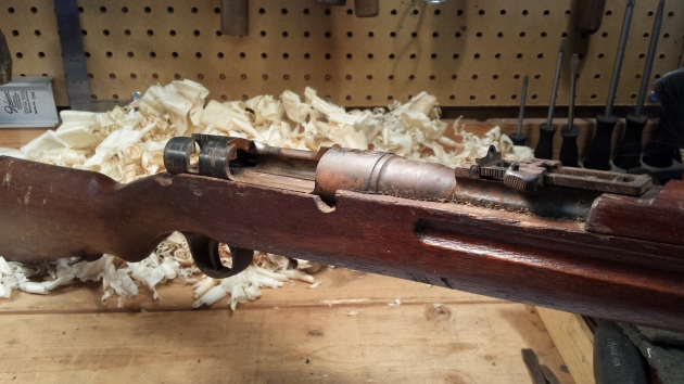 1930s-40s Japanese Arisaka before restoration (bolt removed)