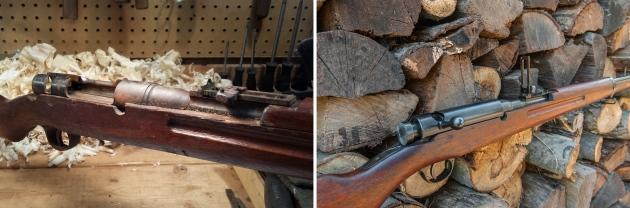 Arisaka receiver before & after restoration