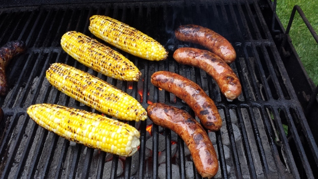 Grill Corn and Brats